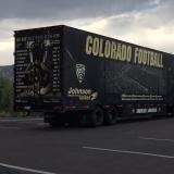 Colorado Football tractor trailer
