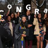 IPHY graduate after 2017 winter recognition ceremony