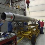 SDO/EVE calibration rocket assembly in White Sands, New Mexico. (Credit: LASP)