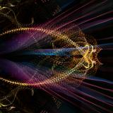 Visuals from a previous Liquid Sky event at Fiske Planetarium