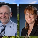 Portraits of Russ Moore and Kelly Fox.