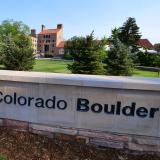 A University of Colorado Boulder sign near the University Memorial Center