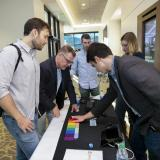 Attendees check out products at the 2018 New Venture Challenge Kickoff