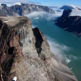 A view of an Arctic glacier