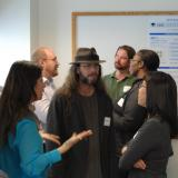 Faculty members talk at open house event