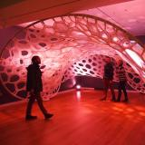Knitted textile structures at the scale of a small pavilion