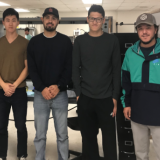 Five engineering students who are developing Pulse, an advanced sensory system for the blind