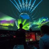 live footage of the Aurora Borealis at Fiske Planetarium