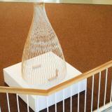Wooden-dowel sculpture titled Sanctuary