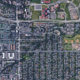 Google Earth image of streets including 30th and Colorado.