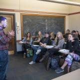 Students participate in Spanish Culture class at Hellems