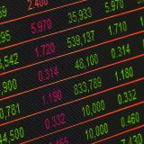 A stock image showing a stock exchange board