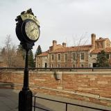 Famous clock at The Hill in Boulder