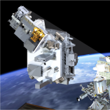 an illustration of the TSIS spacecraft instruments