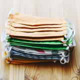 stack of reusable cloth masks
