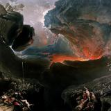 """Oil painting """"The Great Day of His Wrath"""" by John Martin"""