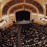 Speaker at Macky Auditorium