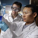 hubert yin in the lab