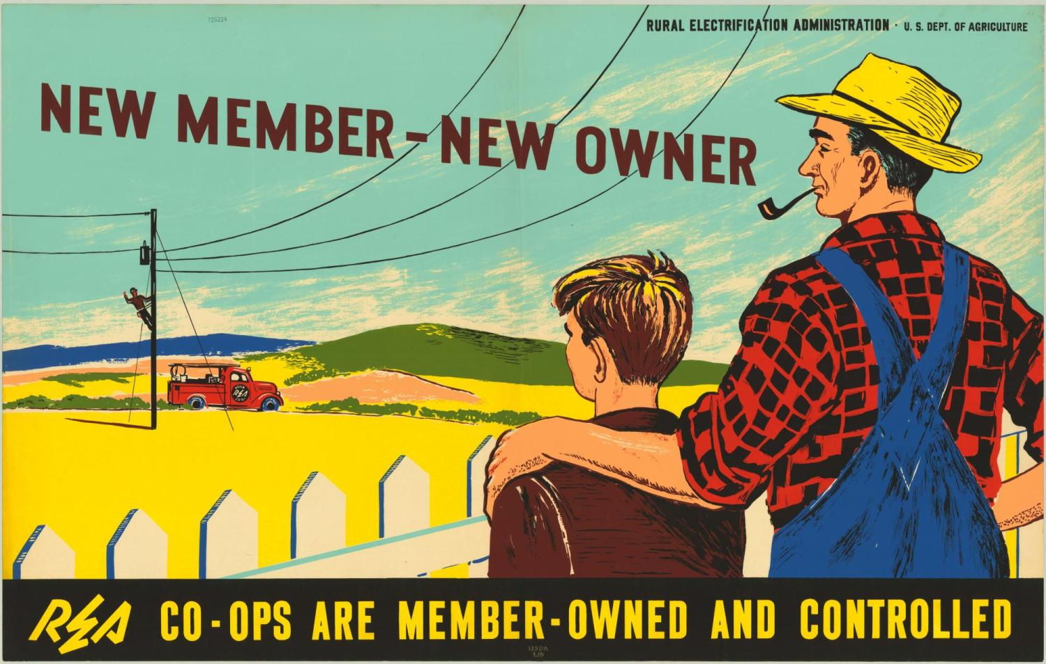 'New member, new owner. Co-ops are member-owned and -controlled.""