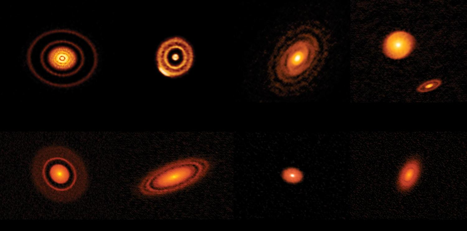 """Images of """"circumstellar"""" disks circling young stars produced by the Atacama Large Millimeter Array (ALMA)"""