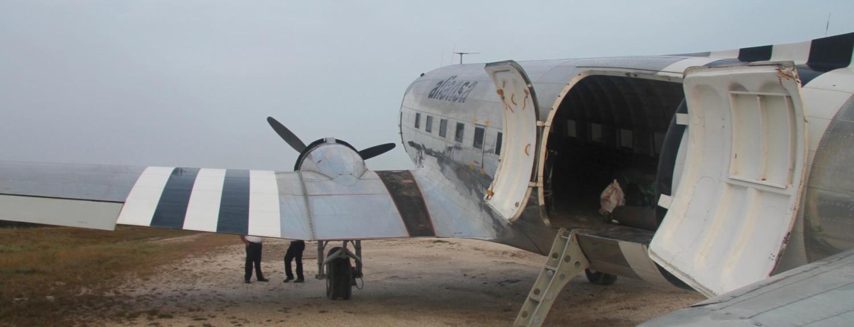 Cargo plane in the Amazon