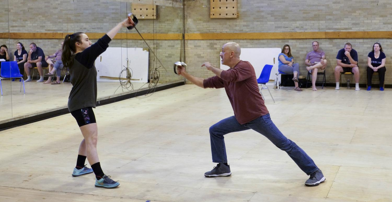 Sword fighting practice