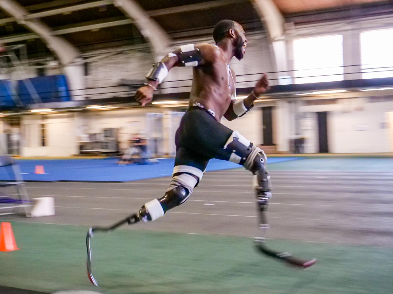 Blake Leeper running