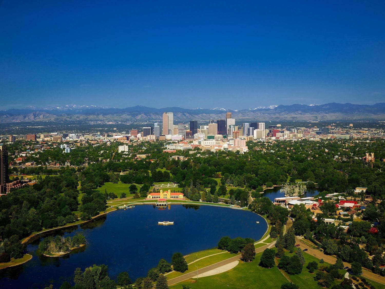 Arial photo of Denver