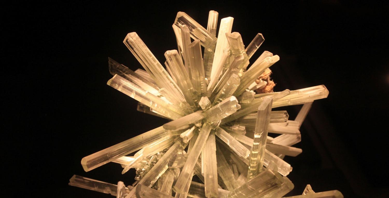 A gypsum crystal