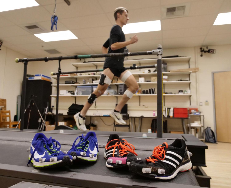 Runner on treadmill in lab