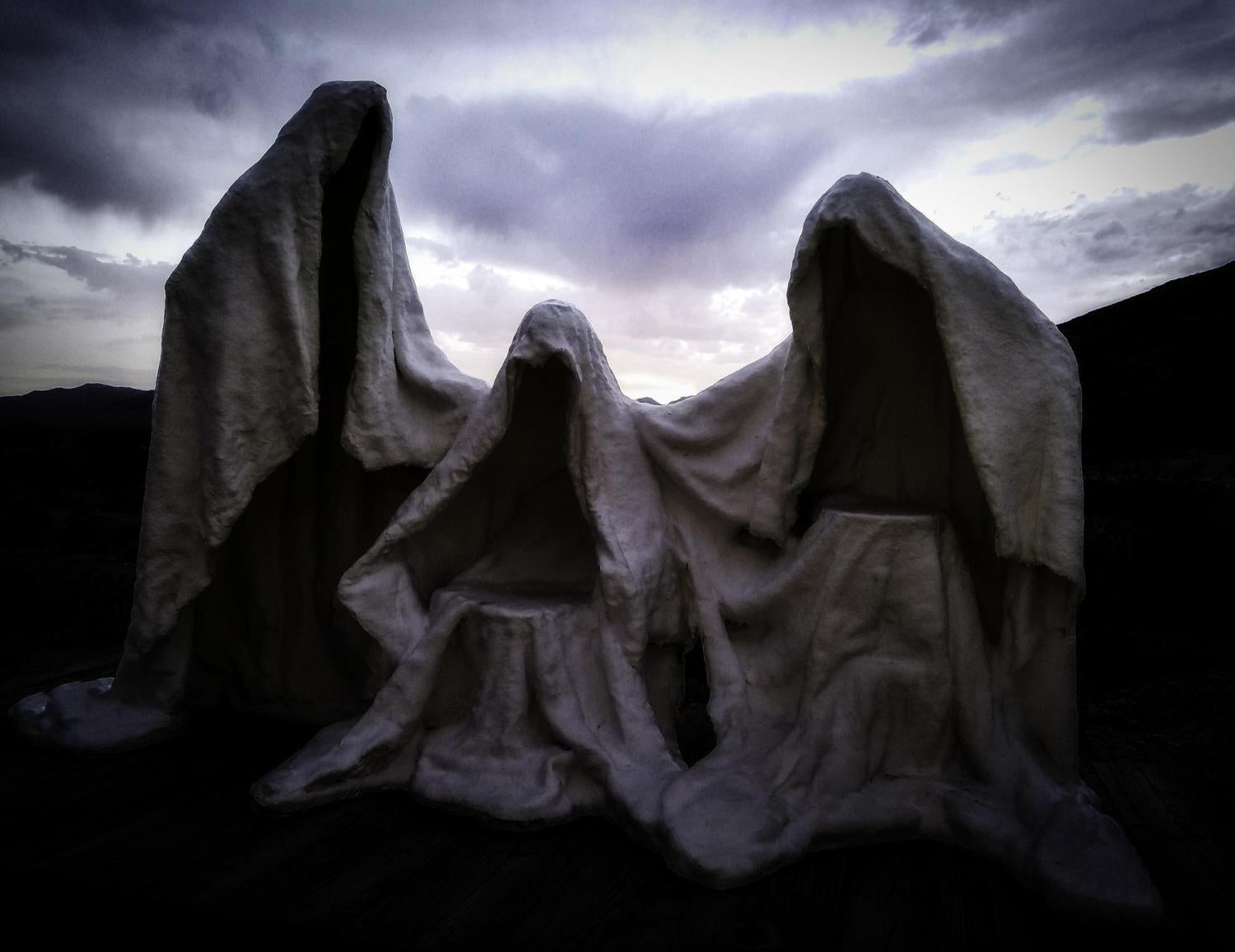 Ghost-like sculptures