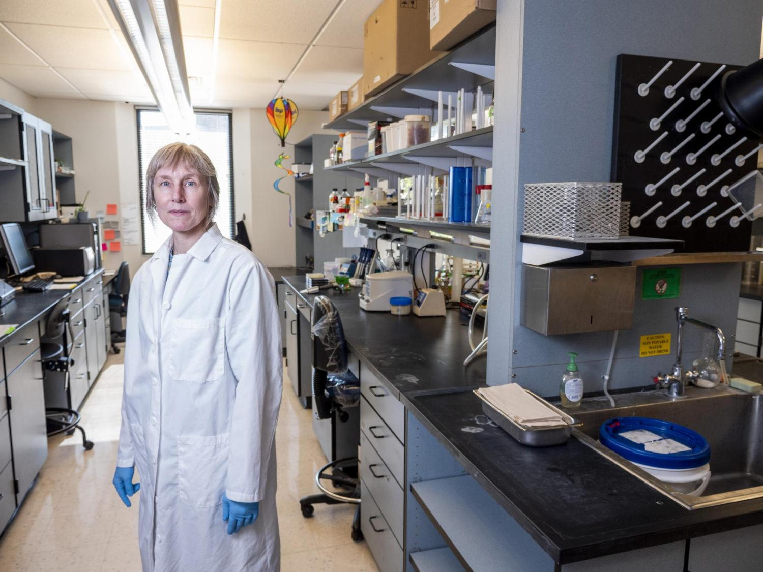 Corrie Detweiler in the lab