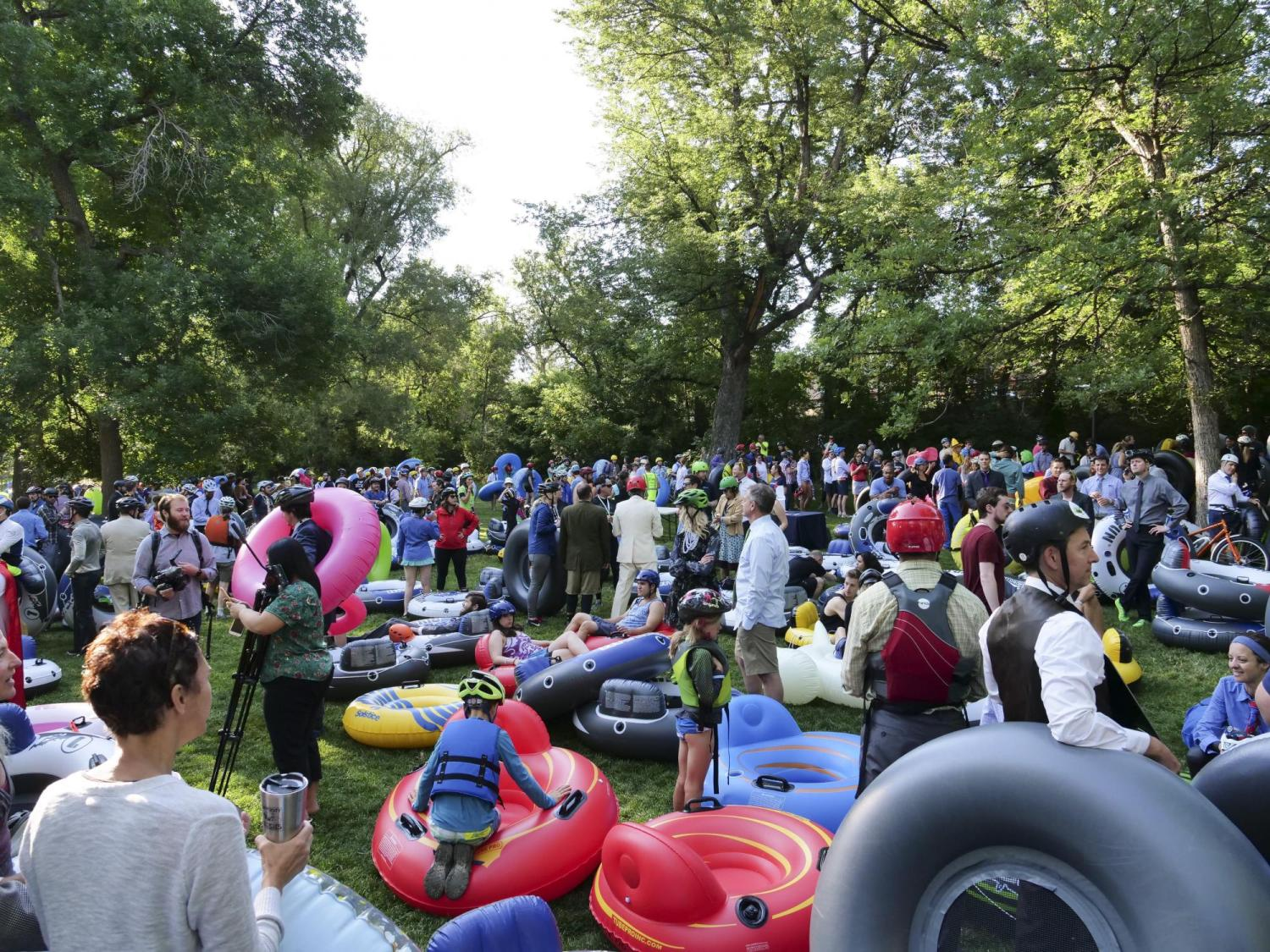 Scene at CU: Tube to Work Day 2018 | CU Boulder Today