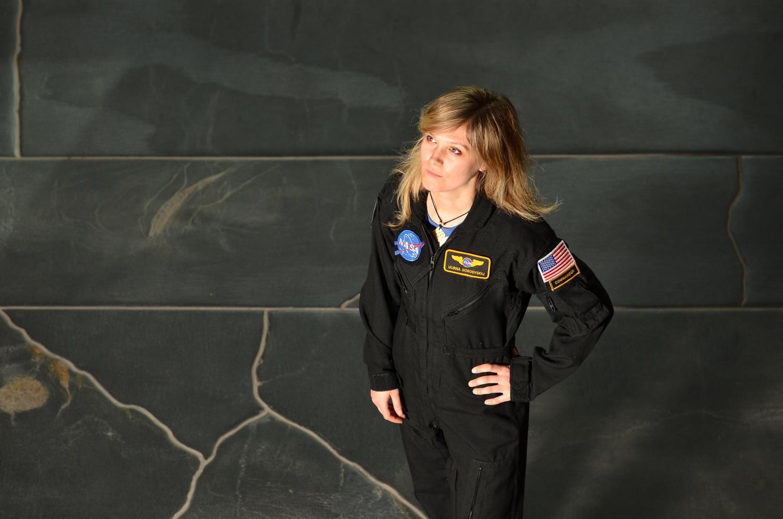 Ulyana Horodyskyj in her NASA uniform