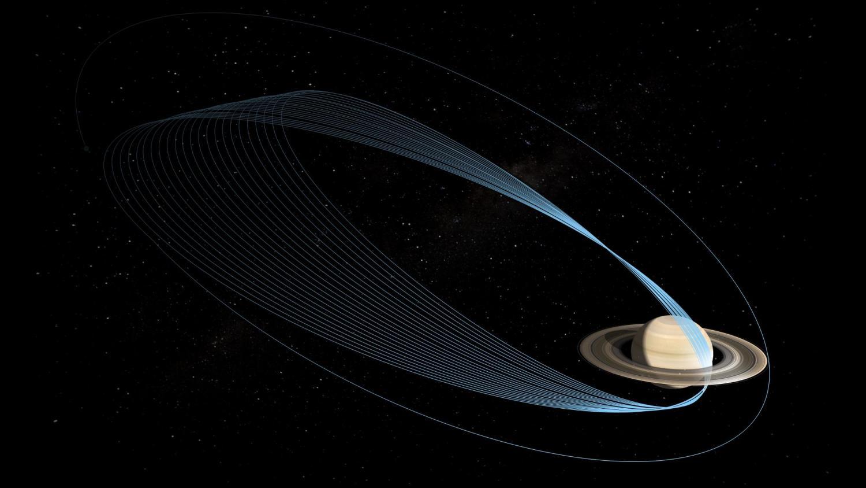 Cassini mission and Saturn illustration