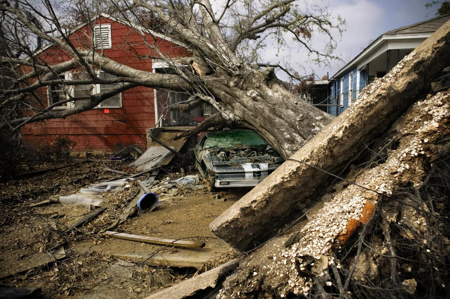 A home destroyed after Hurricane Katrina