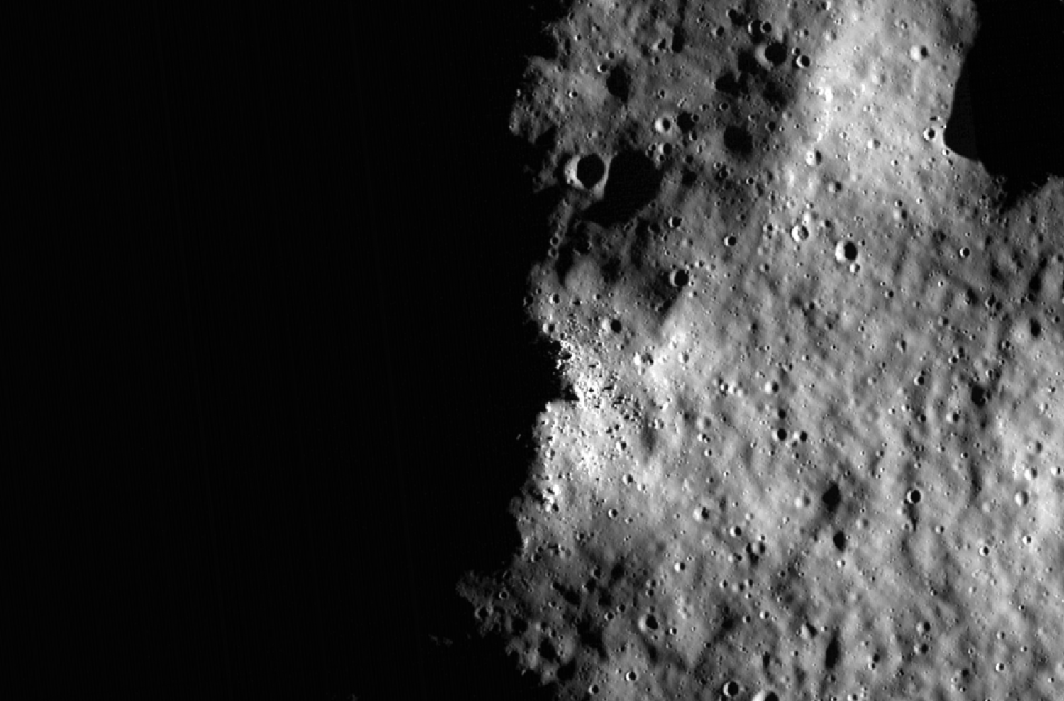 Shadows on the moon's surface