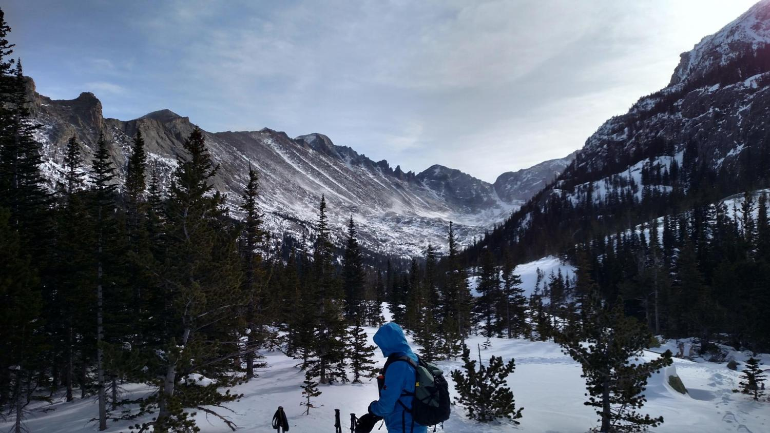 Researcher in the  mountains