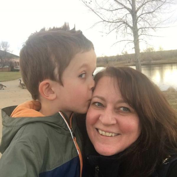Alita Smith and son