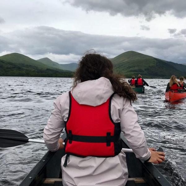 Ava Berrier canoeing in Scandinavia