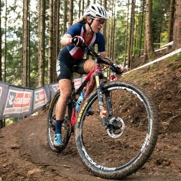 Erin Huck mountain biking in Olympics