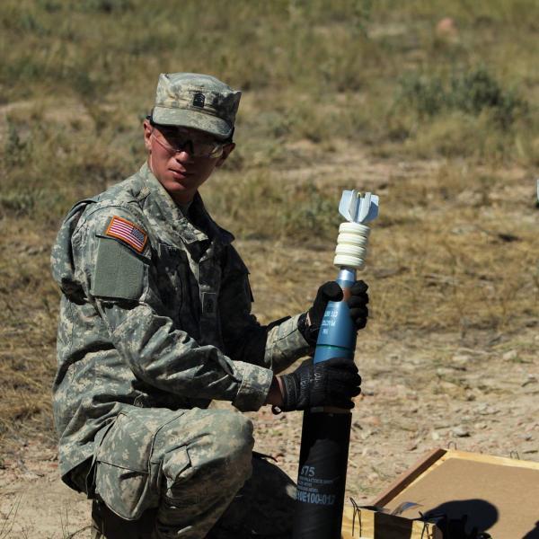 Lonnie Rickel in Army gear