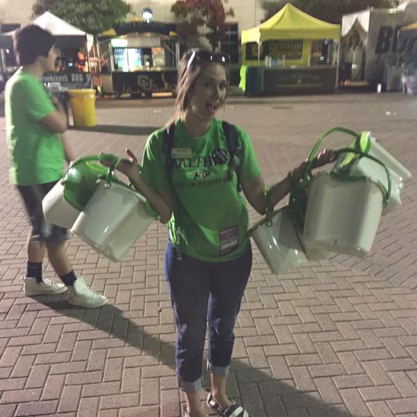 Monica Roward participates in the Green Stampede program