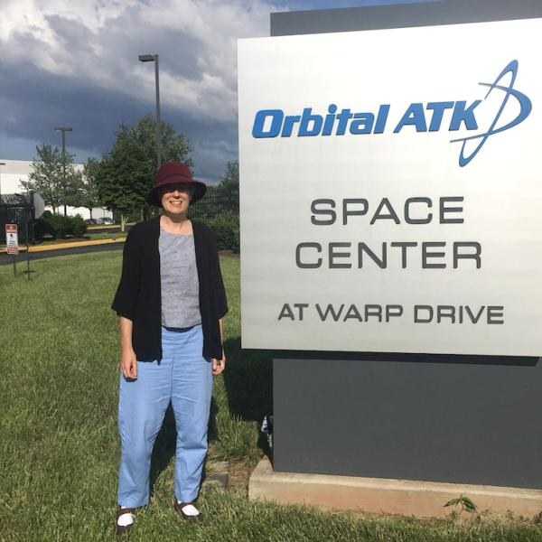 Sarah Withee at Orbital ATK Space Center for internship