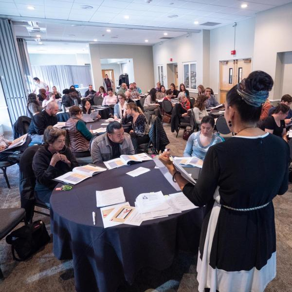 How to Conduct Inclusive Staff Hiring with Teresa Hernandez, diversity search and outreach program manager, and HR staff recruiters. Photo by Glenn Asakawa.