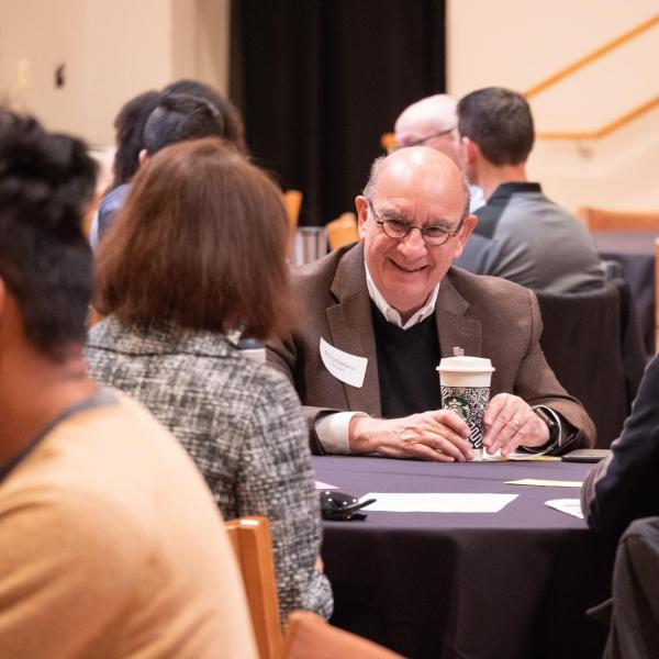 Chancellor Phil DiStefano joined other CU Boulder leadership to meet informally with members of the CU community in small groups. Photo by Glenn Asakawa.