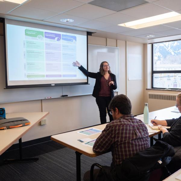 """A session titled """"Universal Design for Learning: Reflections on Making Experiences Inclusive"""" at the CU Boulder 2020 Spring Diversity Summit. (Photo by Glenn Asakawa/University of Colorado)"""