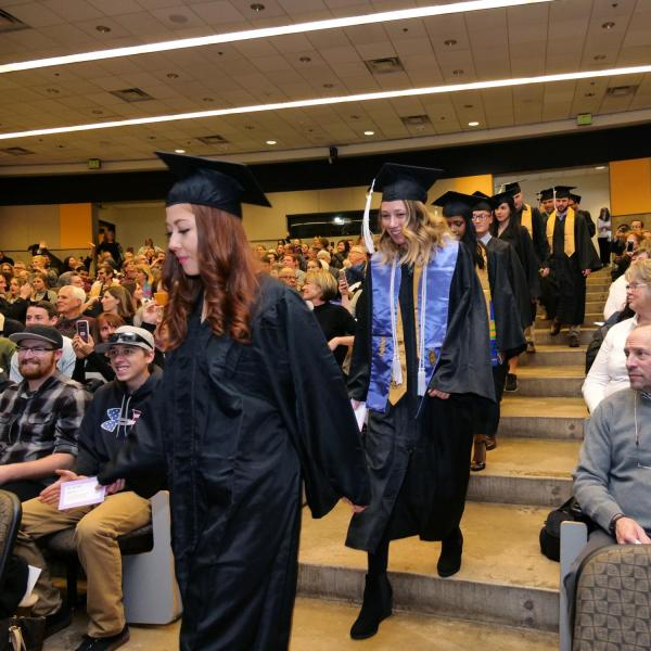 Graduates enter the Integrative Physiology recognition ceremony