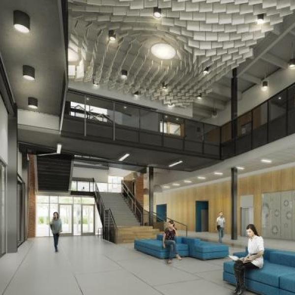 Interior of the new aerospace engineering building