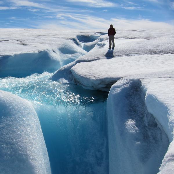 Alexis Ault on Barnes Ice Cap